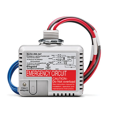 Stand-alone emergency lighting controls