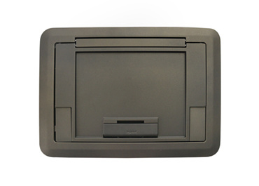 Surface Style Cover with Floor Insert Bronze Powder Coated Finish, EFB45CTCBZ
