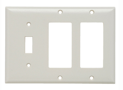 Combination Openings 1 Toggle Switch 2 Decorator Three Gang Ivory