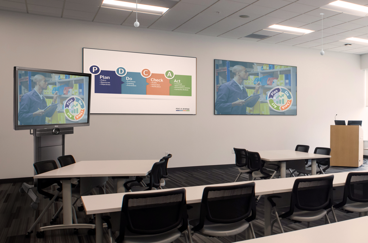 Class room with Milestone products