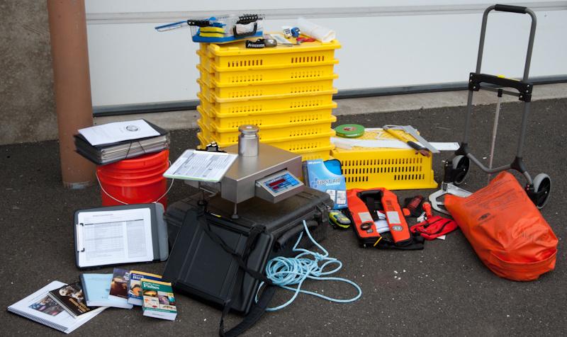 Standard equipment that observers take on each trip