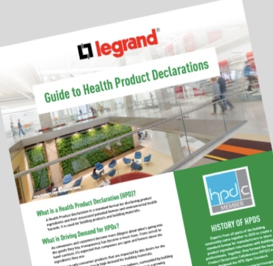 Guide to Health Product Declarations HPDs