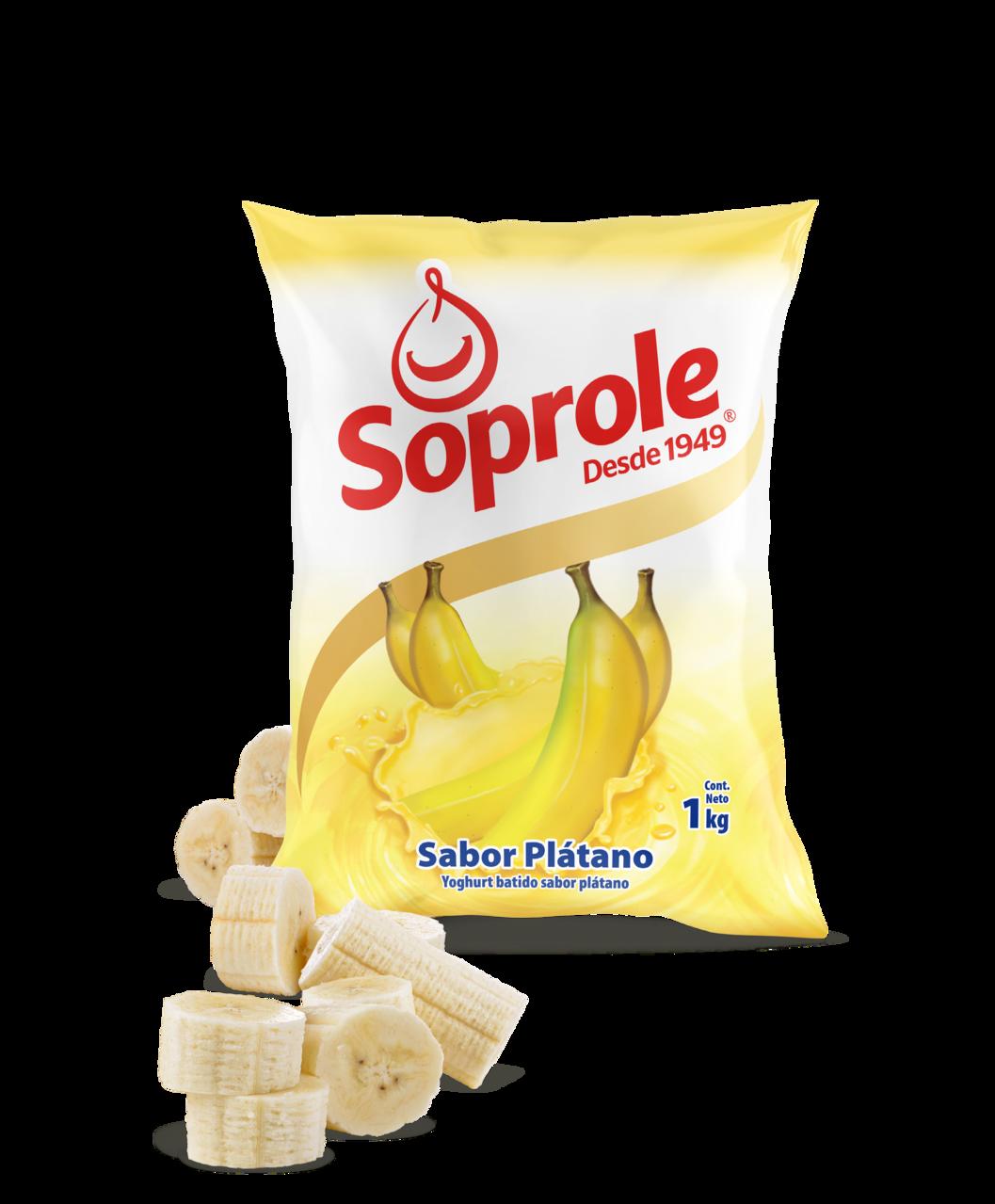 Soprole Yoghurt sabor Plátano 1L