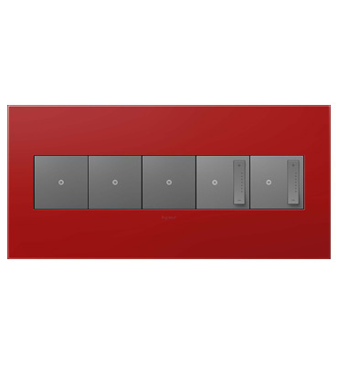 adorne 5-Gang Cherry Wall Plate