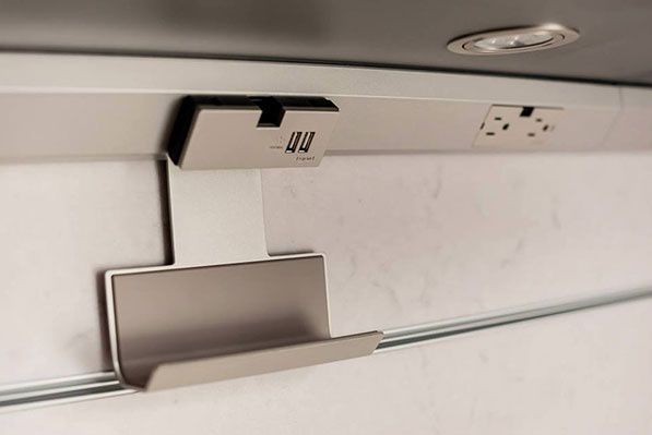 adorne under cabinet USB and mobile cradle devices