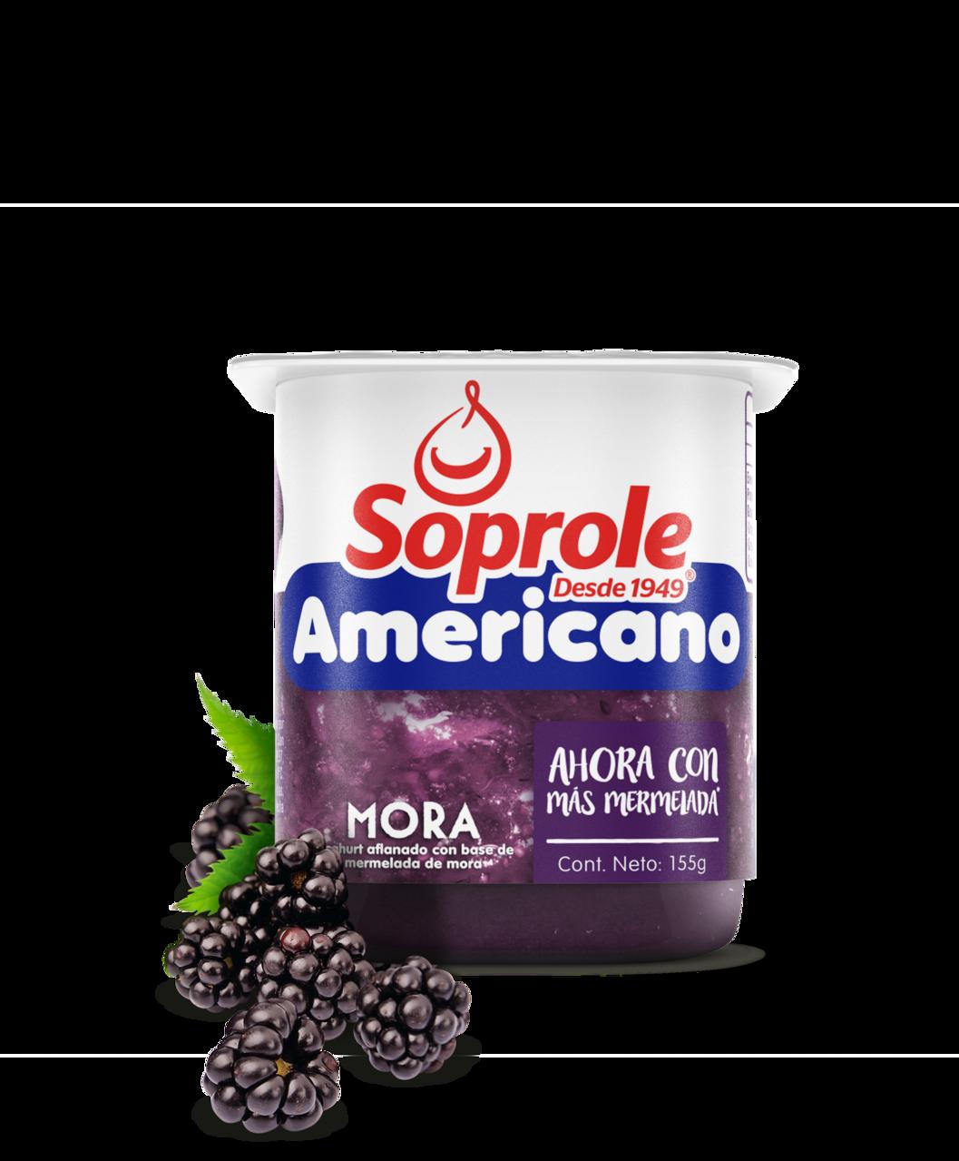 Soprole Yoghurt Batifrut Americano sabor mora