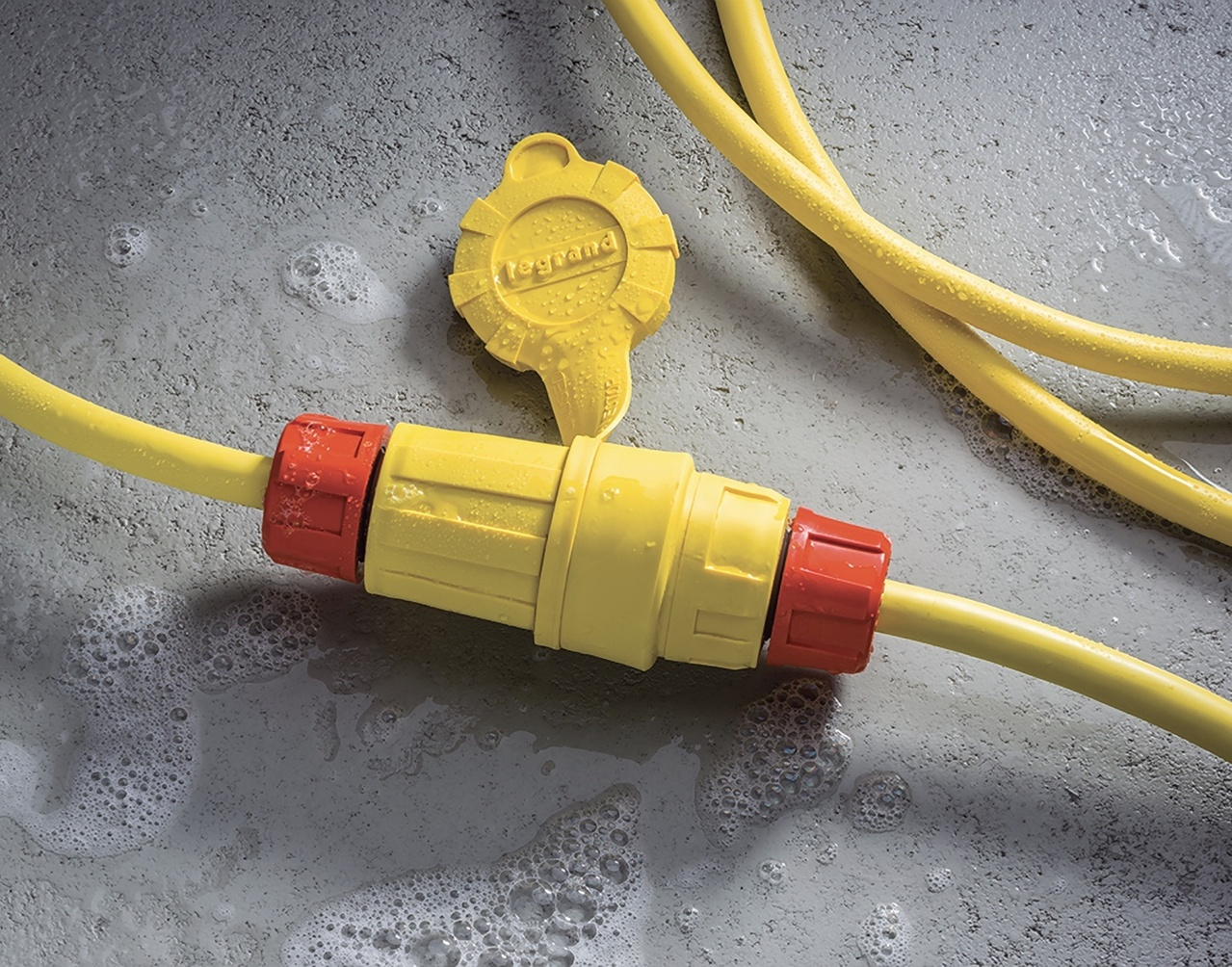 Yellow and orange Steriguard antimicrobial plugs and connectors