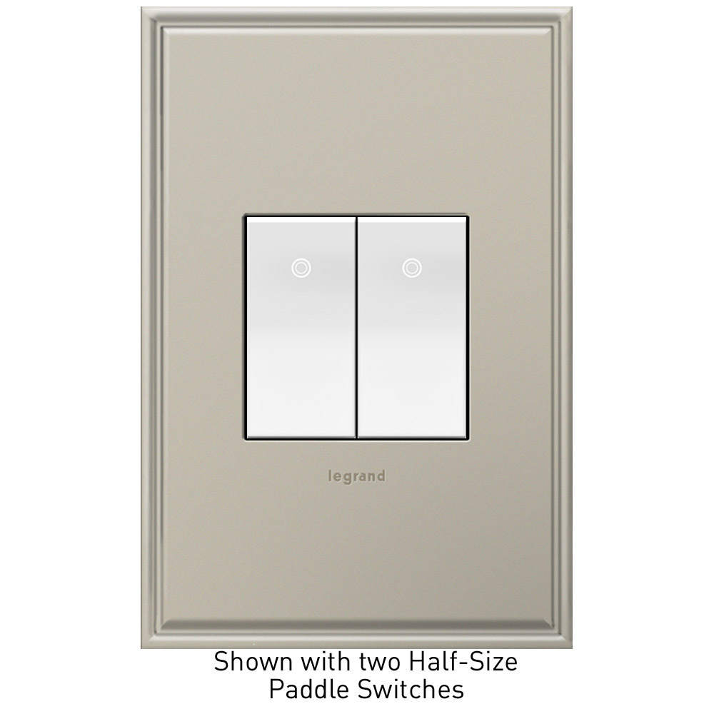 adorne Half Size White Paddle Switch