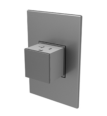 Pop-Out™ Outlet, 20A, 1-Gang, Magnesium