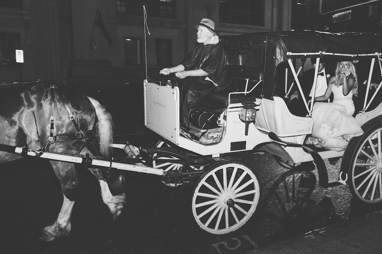 "They were swept away for a romantic tour of downtown in a horse drawn carriage before ending back at The Peabody. ""It was so amazing to have that quiet moment alone after all the craziness!,"" Kendall said."