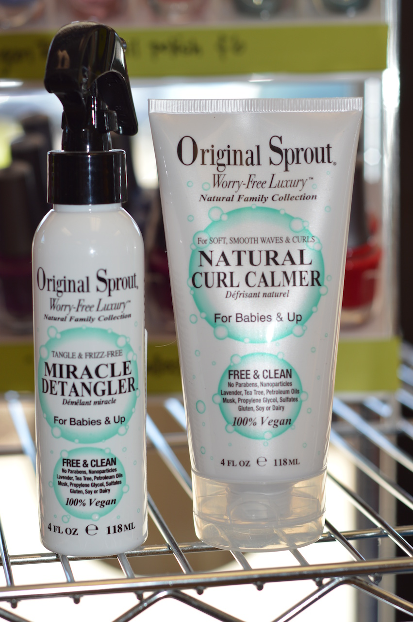 Original Sprout's Miracle Detangler ($13) and Natural Curl Calmer ($16) from Pigtails and Crewcuts