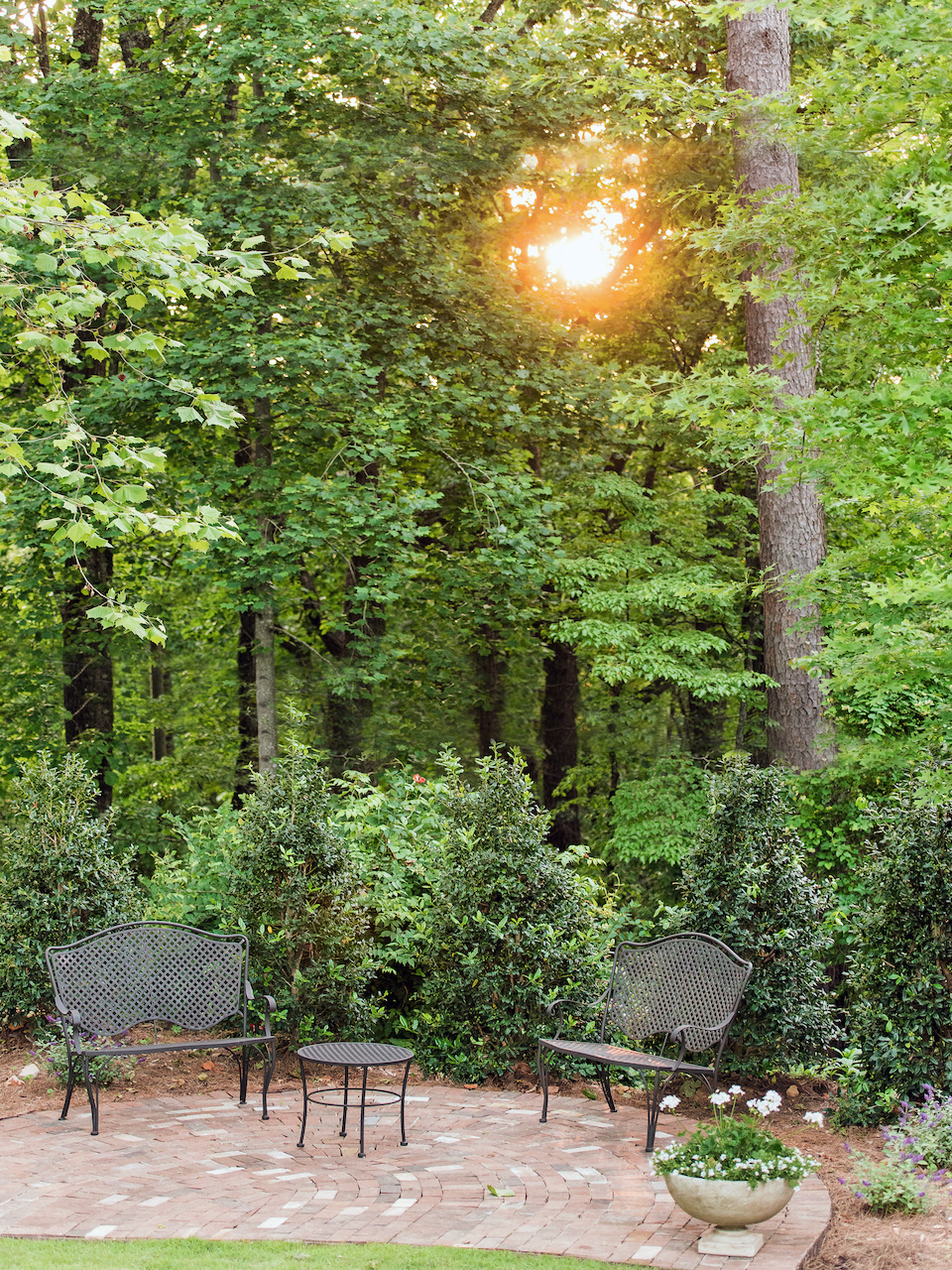 The family plans to add a fire pit to this patio for cool evenings under the stars.