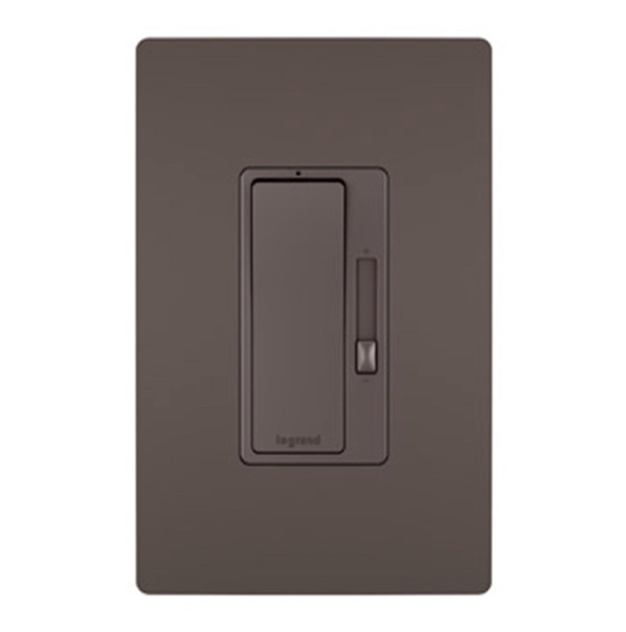 radiant brown dimmer and wall plate image