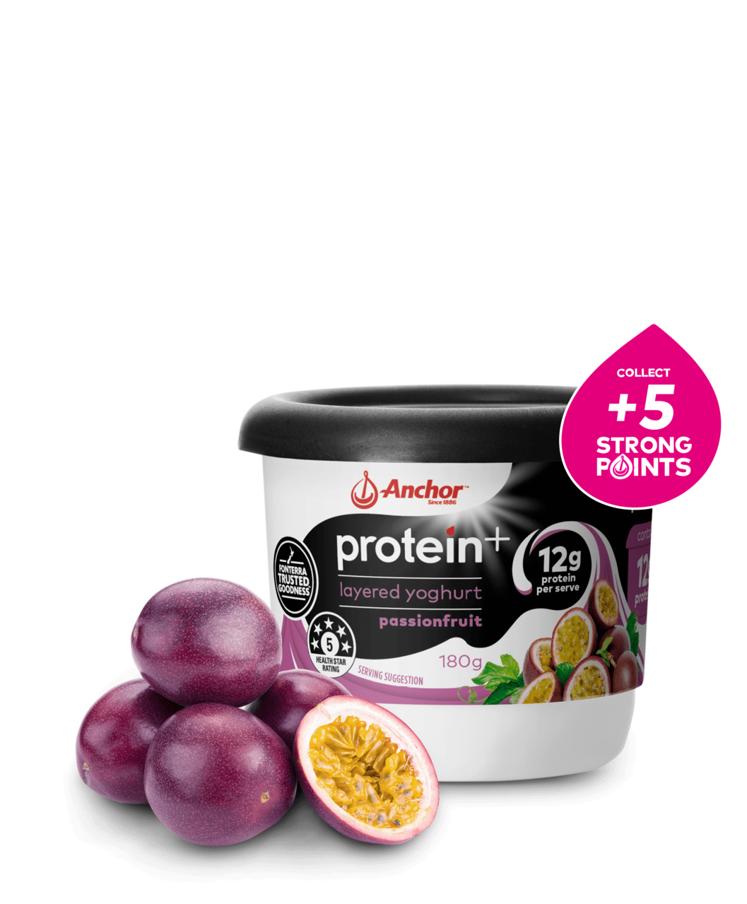 Anchor Protein+ Passionfruit Yoghurt 180g pack