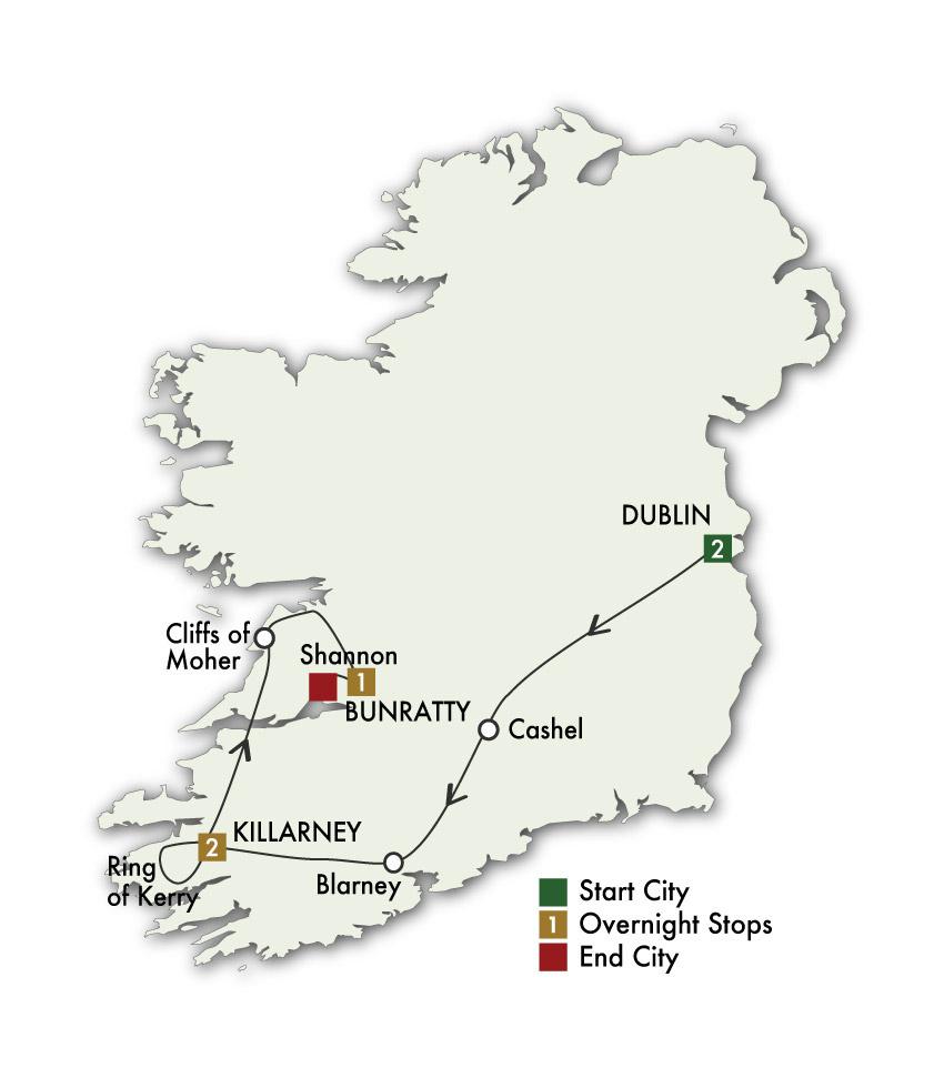 2021 Taste of Ireland (Tour B) - 6 Days/5 Nights