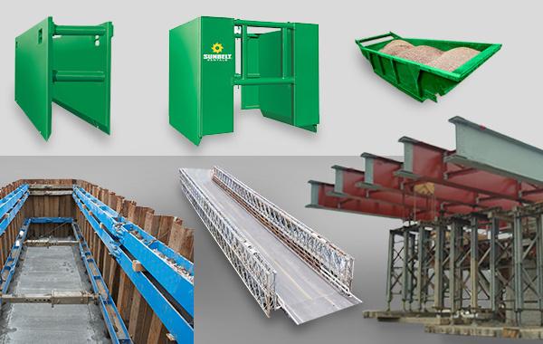 Selection of Sunbelt Rentals Shoring equipment available for rent at Sunbelt Rentals