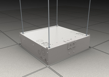 Evolution Ceiling Box with threaded rod