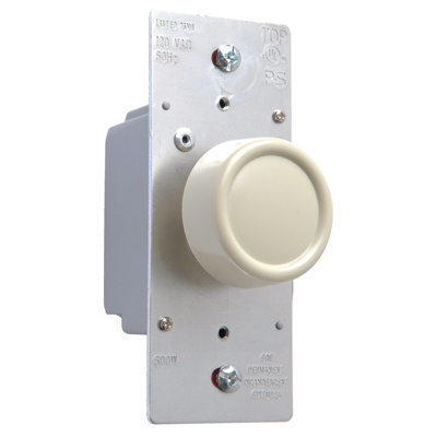 Rotary R Series 600W Incandescent RFI Dimmers Preset Ivory