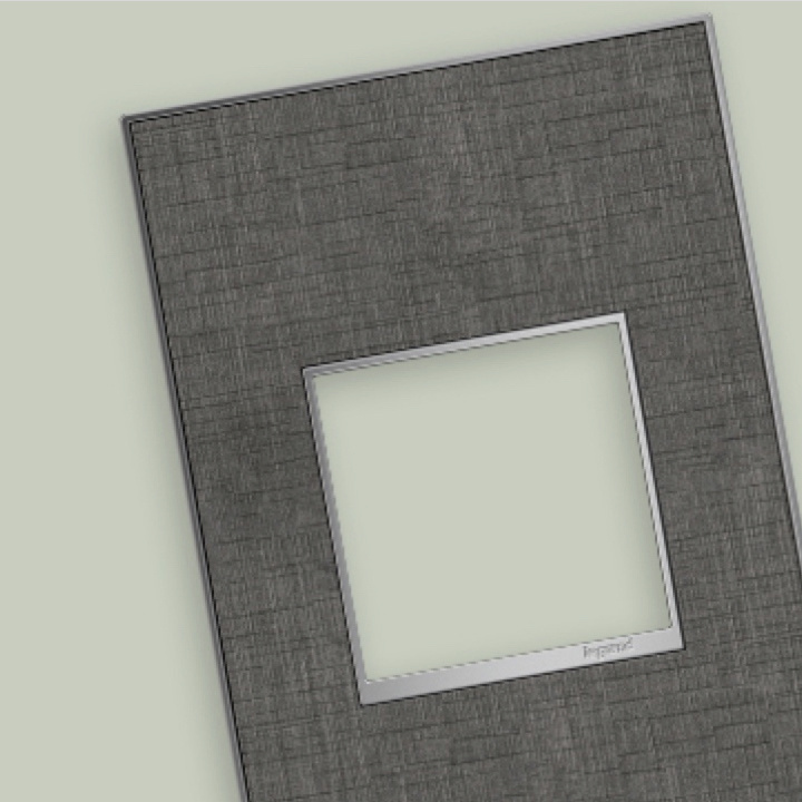 adorne Collection wall plate in rustic linen