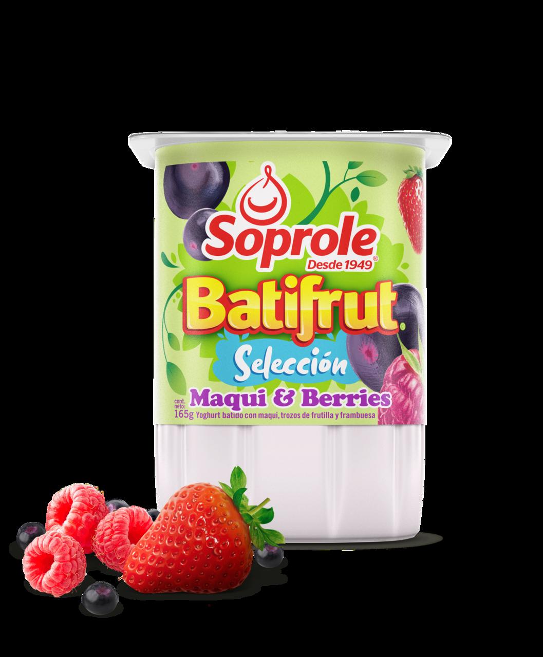 Soprole Yoghurt Batifrut Selección Maqui & Berries 165