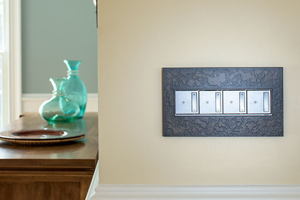 adorne Hubbardton Forge Dark Smoke 4-Gang Wall Plates