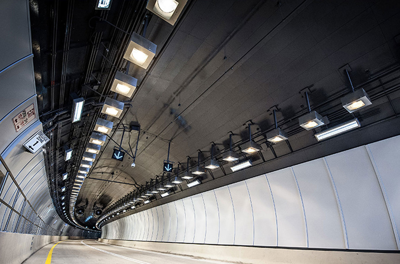 Tunnel underpass with Kenall lighting