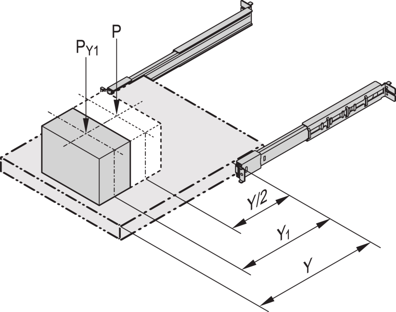 Image for Cabinet mounting kit for telescopic slides from Schroff - Asia Pacific