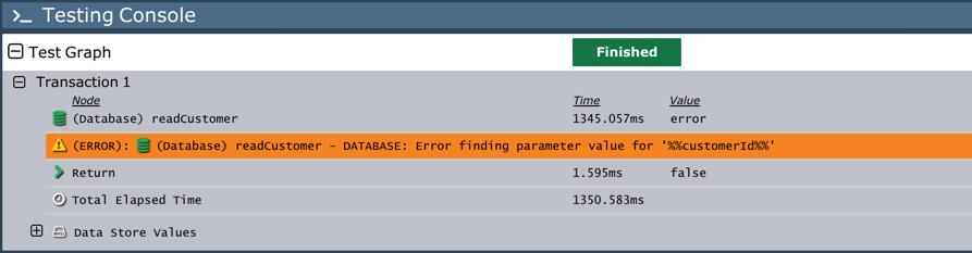 Testing console error output