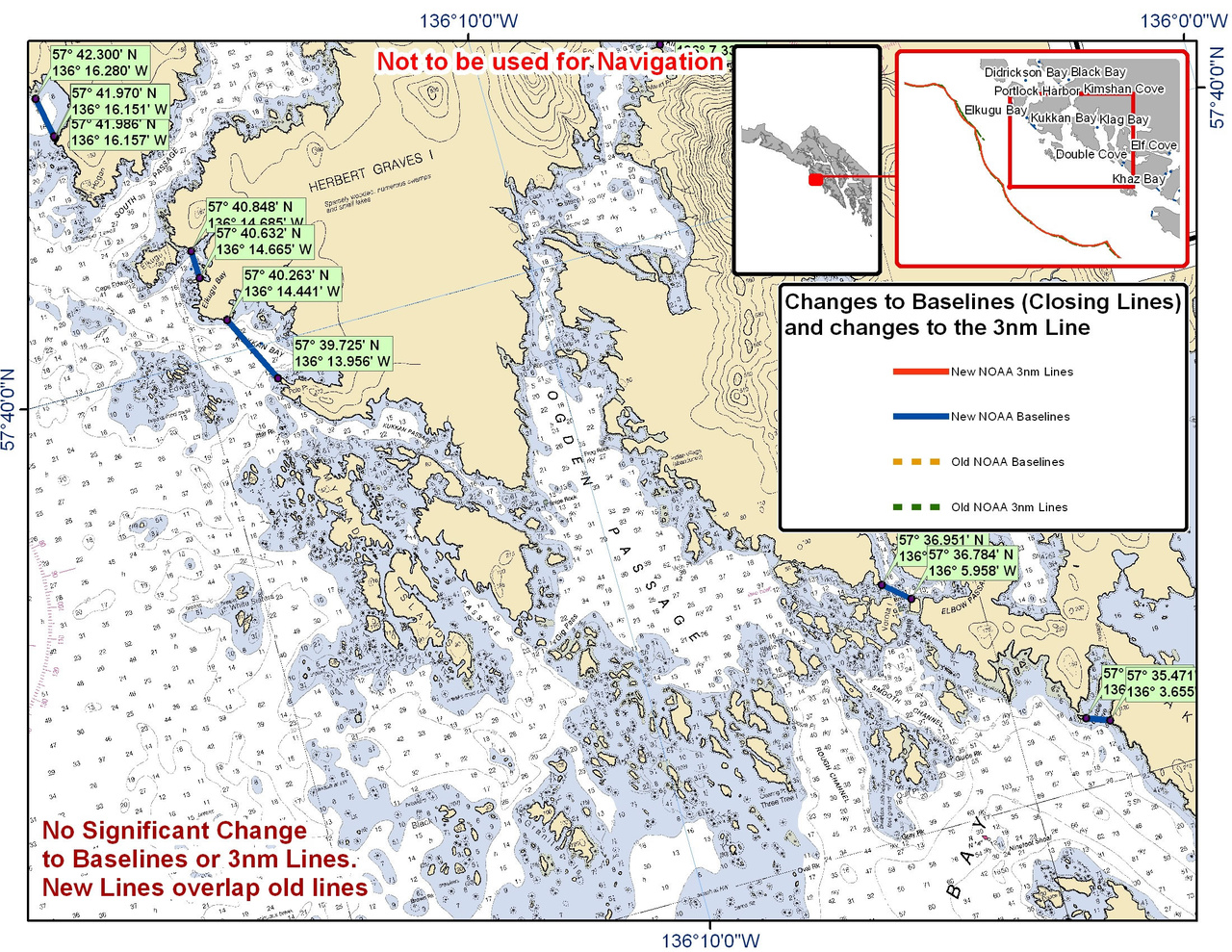 Chart for Klag Bay and the Surrounding Area