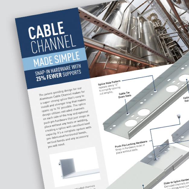 Page of Cable Channel Made Simple sell sheet