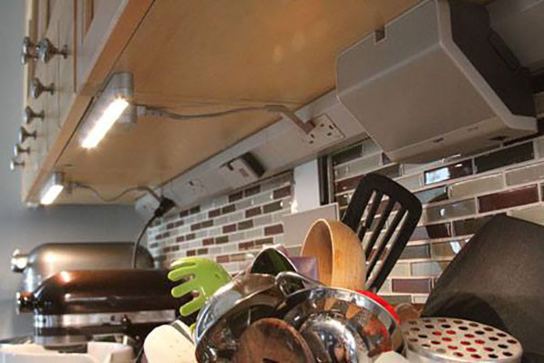 lighting in your gallery kitchen cabinet idea and counter the adds style view to function under