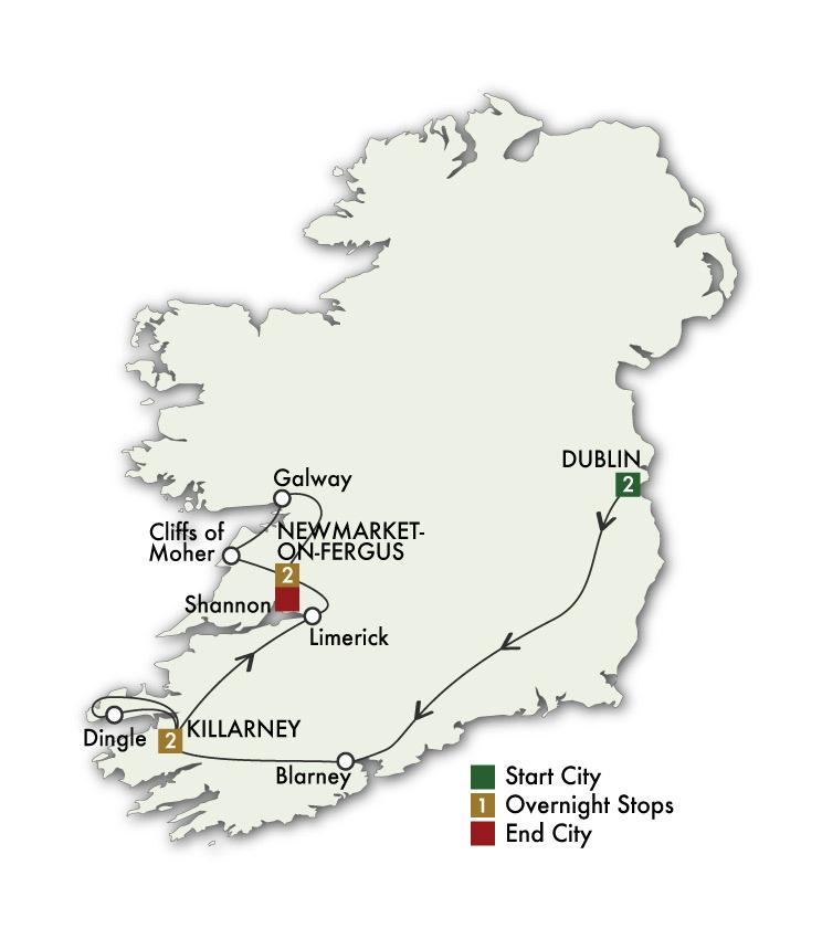 2021 Best of Ireland South (Tour B) - 7 Days/6 Nights