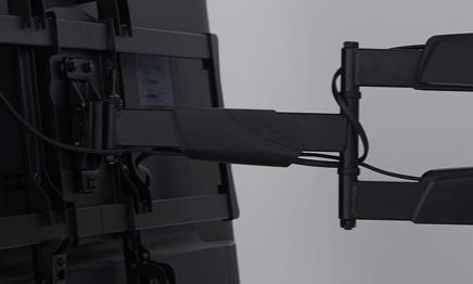 Adjustable tv mounts in black