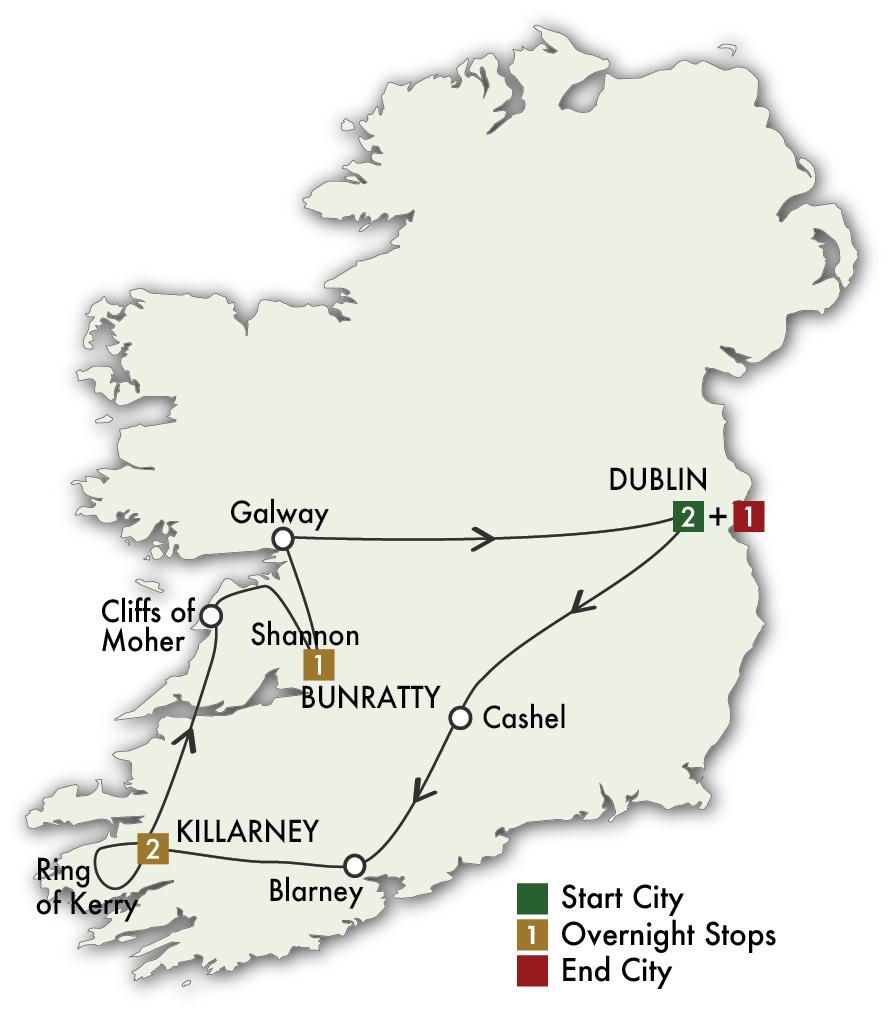 2022 Taste of Ireland (Tour D) - 6 Days/5 Nights