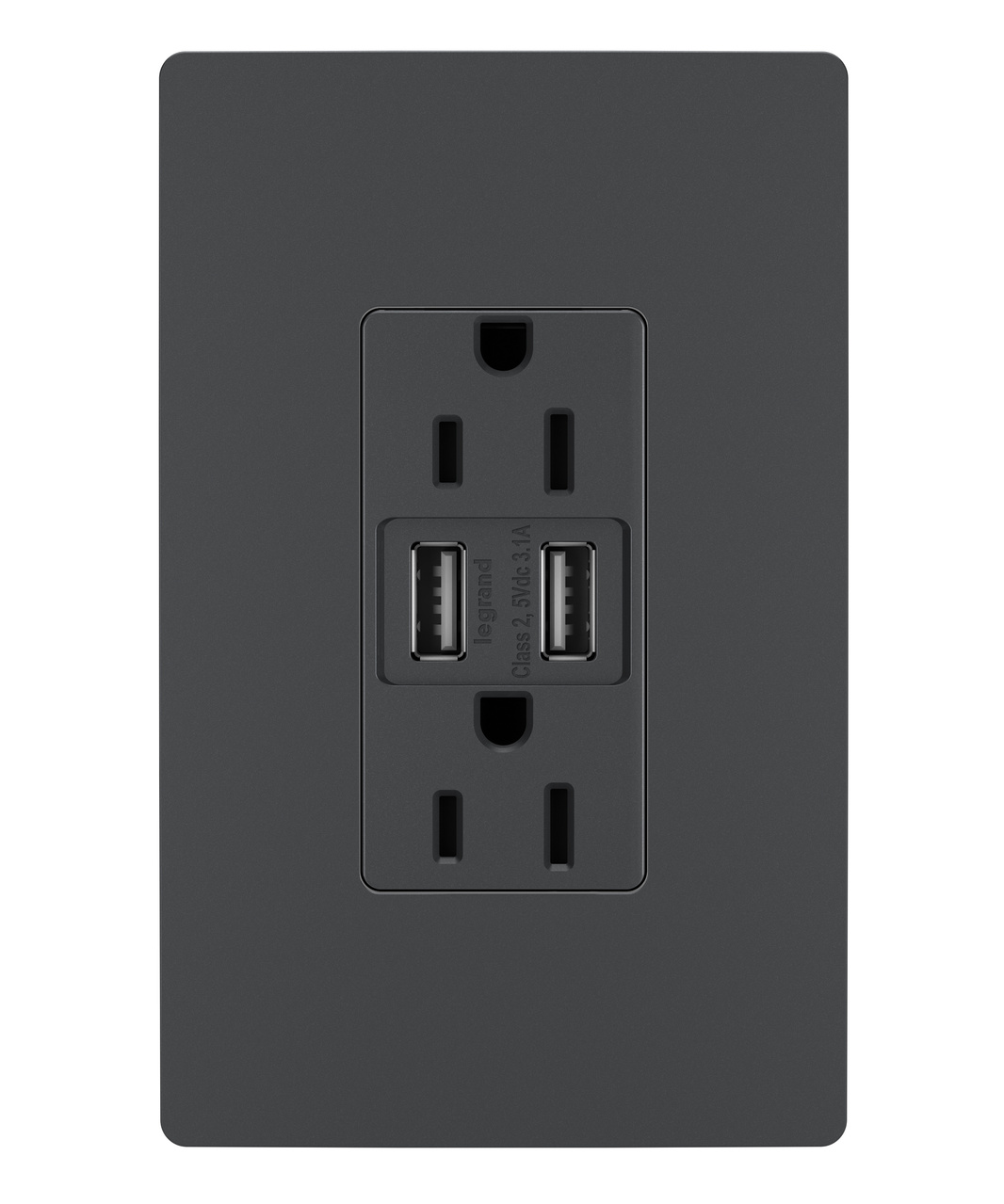 Usb Charger 15a Tamper Resistant Duplex Outlet Graphite Legrand