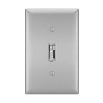 Toggle Slide Dimmer Incandescent, Single Pole /3-Way 700W, Gray