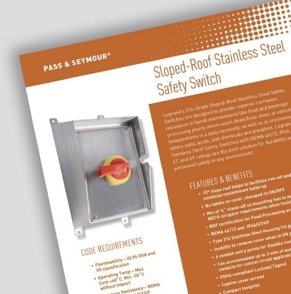 Page of Stainless Steel Safety Switch document