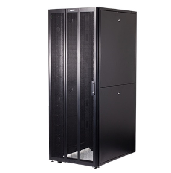 Legrand cabinets in black with white background image