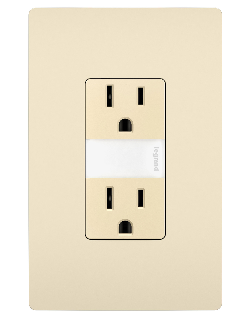 Night Light with Two 15A Tamper-Resistant Outlets, Light Almond