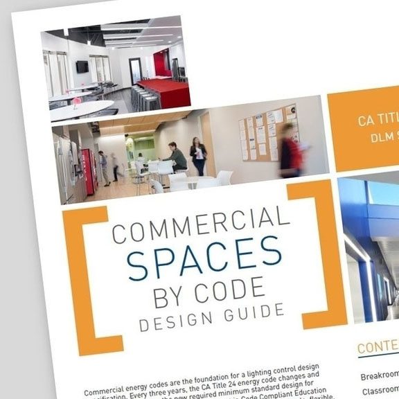 Front page of the Title 24 2016 Design Guide from Wattstopper over a grey background