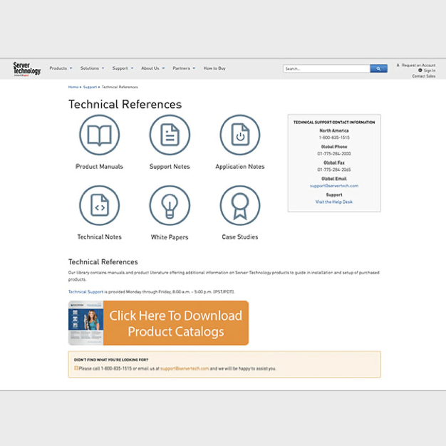 Image showing Server Tech technical references