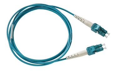 SpaceSaver Patch Cord, Multimode, 50/125 PC/OFNR, A-B, 1 meter, Aqua, OR-P1DF6LPAZA001M