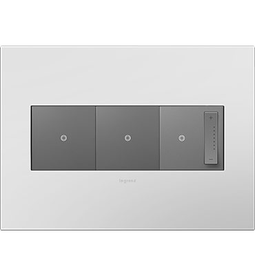 adorne 3-Gang Powder White Wall Plate