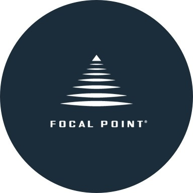 Focal Point logo with navy blue background