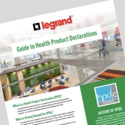 Desktop and mobile image of Legrand's Guide to Health Product Declarations