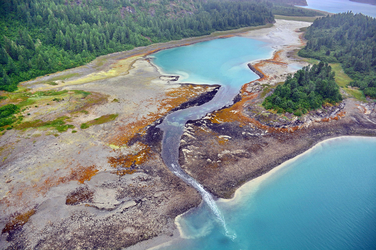 Aerial ShoreZone image taken July 15, 2018 of Adams Inlet, Glacier Bay National Park & Preserve.