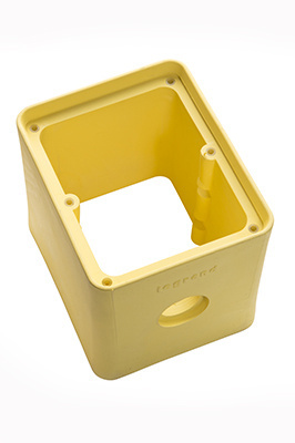 2 Gang Portable Rubber Outlet Box Yellow Legrand