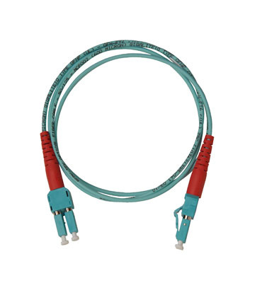 Spacesaver Patch Cord, Multimode, 50/125, PC/OFNR, A-A, Aqua Premium performance