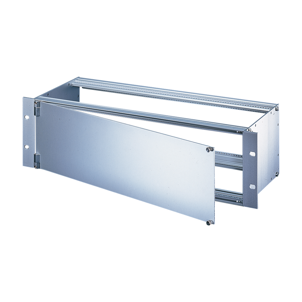 Imagen para Front Panel,  front anodized and rear chromated, shieldable (textile), side hinged assembly de Schroff - Norteamérica
