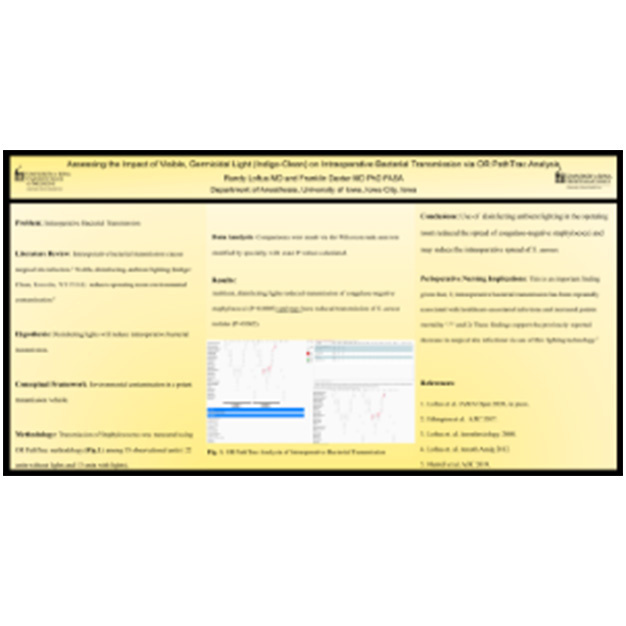 AORN for U of Iowa: Indigo-Clean's Impact on Intraoperative Bacterial Transmission Poster